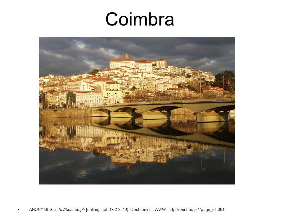 Coimbra ANONYMUS. http://best.uc.pt/ [online]. [cit.